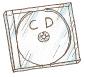 コンパクトディスクの絵